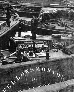 """Captioned: """"ADMIRAL as a motor, in Regent's Canal Dock"""" #Regents #Canal #London #Boat #lighter #barge #dock #east #limehouse #docklands #historic #narrowboat #fmc"""