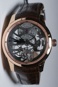 Ulysse Nardin Skeleton Tourbillon Manufacture Watch - this is really cool and quirky!
