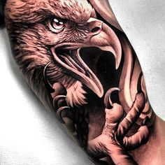 Login - Amazing Tattoo Designs & Ideas That You'll Love! Bald Eagle Tattoos, Eagle Head Tattoo, Hawk Tattoo, Phönix Tattoo, Forarm Tattoos, Armband Tattoo, Dope Tattoos, Badass Tattoos, Tattoos For Guys