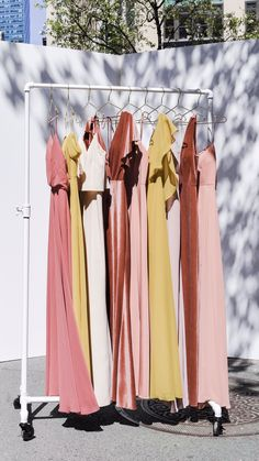 We design for the discriminating bride and bridesmaid who are looking for a dress that she can use not only for the bridal party, but again and again for any special occasion. Classic Bridesmaids Dresses, Mismatched Bridesmaid Dresses, Beautiful Bridesmaid Dresses, Brides And Bridesmaids, Bridesmaid Inspiration, Beach Wedding Inspiration, Wedding Ideas, Pink Fall Weddings, Yellow Wedding Colors