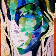 Portrait,  spectrum glass by Jacqueline Misset,  MozaiekMisset