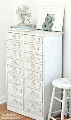 urban farmgirl: numbered cabinet tutorial...LOVE THIS
