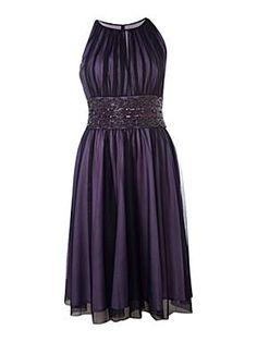purple bridesmaid dress House of Fraser