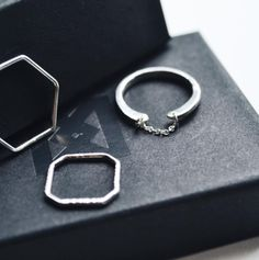 OPEN CHAINED RING by #KaraYoo Jewelry