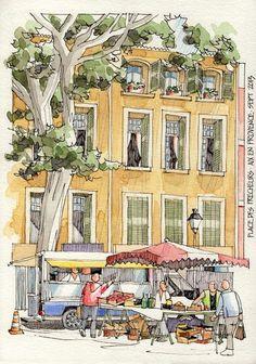 JR Sketches: Luberon, France 2013 1 - Set 2013: