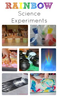 Learn about rainbows and colors or celebrate St. Patrick's Day with these fun rainbow science experiments for kids.