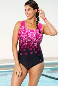 0056baf1cc Chlorine Resistant Exploded Pink Floral Sport One Piece Swimsuit. Swimsuits  for all