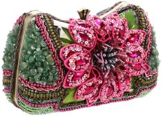 Mary Frances Breathtaking Shoulder Bag,Multi,One Size Mary Frances Purses, Mary Frances Handbags, Beaded Purses, Beaded Bags, Floral Fashion, Fashion Bags, Fashion Accessories, Stylish Handbags, Oui Oui