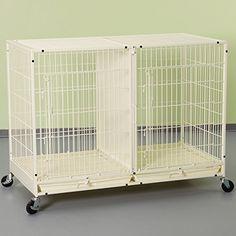 ProSelect Steel Modular Pet Cage with Plastic Tray XTall Ivory * Details can be found by clicking on the image.