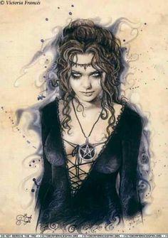 Victoria Frances fantasy art wiccan wicca pagan