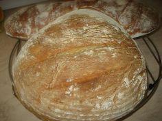 Ψωμί τραγανό εύκολα και γρήγορα και χωρίς ζύμωμα  400 γρ αλεύρι 320 γρ  νερό χλιαρό 1/2 κ,γλ μαγιά ξερή 1 ½  κ,γλ αλάτι ...