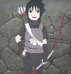 Little Sasuke Uchiha. His voice sounds super weird in the episode.