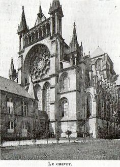 French gothic notre dame de paris plan cathedrals - Chevet architectuur ...