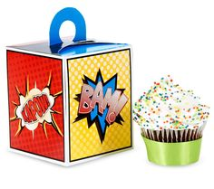 Superhero Comics Cupcake Boxes, 87985 from Birthday Express