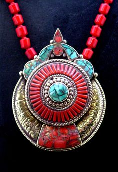 Tibetan Wheel of Life Pendant mandala pendant necklace by SilkRoadJewelry