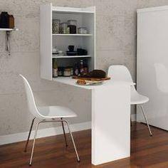 Mesa/Bancada com Prateleiras Multifuncional Branco - Casabras