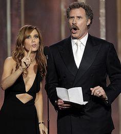 SNL alumni rules. Will Ferrell and Kristen Wiig.