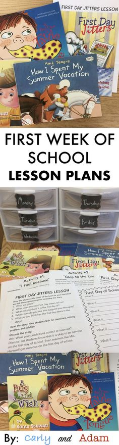 First Week of School Lesson Plans Includes: Back to School STEM Activities, Team Building Activities, Beginning of the Year Read-Alouds, and MORE!