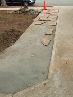 Widening driveway