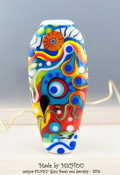 Art Glass Original Statement Lampwork Focal Bead by michoudesign