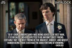 Twitter / BBCOne: THAT Best Man's speech...#Sherlock