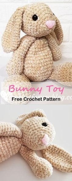cute Crochet 117797346492380732 - This velvet bunny born as a part of my amigurumi adventure. This year I'm focusing to learn how to crochet/design amigurumi patterns. Crochet Bunny Pattern, Crochet Amigurumi Free Patterns, Crochet Animal Patterns, Stuffed Animal Patterns, Knitting Patterns, Crochet Stuffed Animals, Diy Crochet Animals, Lace Knitting, Knitting Stitches