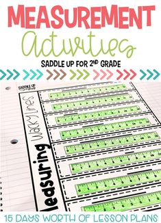 This measurement resource for 2nd grade is packed full of hands-on activities for practicing non-standard measurement and measuring inches, centimeters, feet, and area. Click through to see all the activities included! #measurementactivities #measurement #learningmeasuring