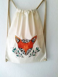 Check out our backpacks selection for the very best in unique or custom, handmade pieces from our shops. Lis, Fox Decor, Drawstring Backpack, Backpacks, My Style, Ideas, Fashion, Fox, Moda