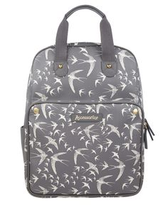 Accessorize | Swallow Top Handle Backpack | Grey | One Size