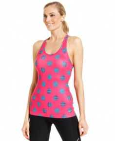 Nike Top, G87 Sleeveless Dri-FIT Dot-Print Tank