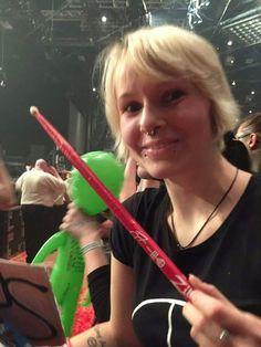 Anne Seibt hat in Düsseldorf den Drumstick ergattert. Ein Tag, den man nie vergisst. 09.11.2016