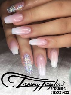 French Fade Nails Glitter #tammytaylor