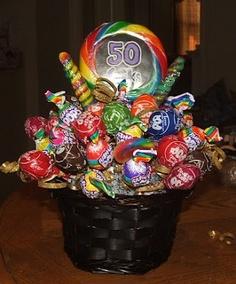 50 Sucks--sucker bouquet for 50th birthday, good idea
