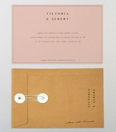 How incredibly devine. The pale pink is so soft with the regal black font and classic envelope / Love the simplicity and colours