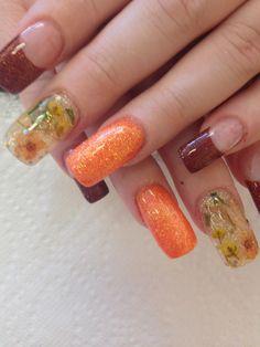 Inlaid flower nail decals