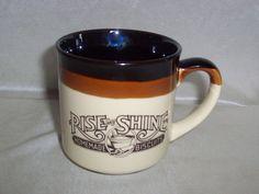Vintage Hardees Rise and Shine Coffee Mug 1986  #Hardees