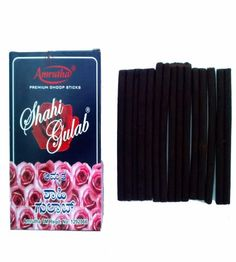Key Features of Amrutha's Shahi Gulab Dhoop Sticks  Pack of 15 Total 225 dry dhoop sticks  Premium rose fragrance  Wholesale pack sufficient for couple of months  Good for daily home and office use  Amrutha is a leading manufacturer in Incense industry. It is known for producing quality products with strong fragrance.  Rose fragrance is natural room freshner and helps in creating soothing ambience  Product comes with dhoop stick holder inside each box