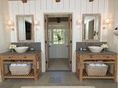 homemade rustic  bathroom vanity   love this bathroom concept