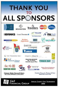 G&F Financial Group Annual Charity Golf Tournament Sponsorship Poster - Design by Deanna McIsaac 2004.                                                                                                                                                      More