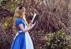 """Curiouser and Curiouser by Hopie-chan.deviantart.com on @deviantART - Modelling as Alice from """"Alice in Wonderland""""."""