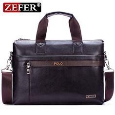 5ba3e4093 VIDENG POLO Men Briefcase Brand Business Shoulder Bag Casual Leather Messenger  Bags Computer Laptop Handbag Male Travel Bag 2018-in Crossbody Bags from ...