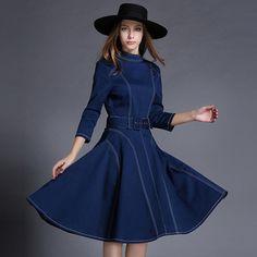 $49.99 - 2016 Denim Dress Vestido De Festa Plus Size Women Clothing Jeans Dresses Vintage Robe Femme Lolita Vestidos Femininos Tunic New