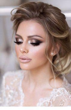 hochzeit make-up braut ; hochzeit make-up braut ; Romantic Wedding Makeup, Summer Wedding Makeup, Wedding Makeup For Brunettes, Wedding Makeup For Brown Eyes, Natural Wedding Makeup, Bridal Hair And Makeup, Natural Makeup, Hair Makeup, Eyeshadow Makeup