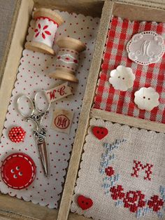 shadow box for craft room Cross Stitching, Cross Stitch Embroidery, Cross Stitch Patterns, Hand Embroidery, Sewing Box, Sewing Notions, Sewing Hacks, Sewing Crafts, Craft Projects