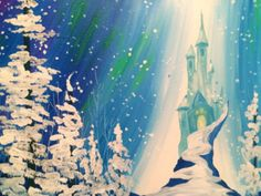 From the classic Hans Christian Andersen fairytale, the frozen realm of the Snow Queen is brought to life in a fun painting for all ages.