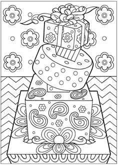 √ Cake Coloring Pages for Adults. 11 Cake Coloring Pages for Adults. Wel E to Dover Publications Coloring Pages For Grown Ups, Coloring Book Pages, Printable Coloring Pages, Coloring Sheets, Coloring Pages For Kids, Doodle Coloring, Mandala Coloring, Birthday Doodle, Free Birthday