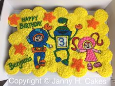 Team Umizoomi cupcake cake www.facebook.com/jannyh.cakes
