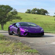 Lamborghini Huracan Performante painted in Viola Parsifae Photo taken by: @doctam3 on Instagram Owned by: @doctam3 on Instagram