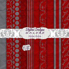 Mister Mister Digital Paper Pack Set of 10 by DigitalDesignsGalore, $3.99