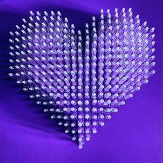 Love Is The Drug (purple) 2017 42 × 42 cm Syringes on marine wood in plexiglas box. #sculpture #contemporaryart #syringes #purplepower #artwork #venicebiennale